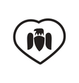 stylish black and white icon Eagle logo vector image vector image