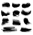 Textured brush strokes drawn a flat brush and ink vector image vector image
