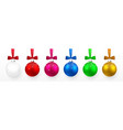 transparent and colorful christmas and new year vector image