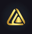 triangle technology media abstract gold logo vector image vector image