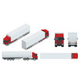 truck trailer with container cargo delivering vector image