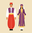 turkish traditional costume vector image vector image