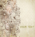 valentines background with floral pattern vector image vector image