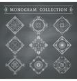 vintage monogram set vector image vector image