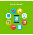 Web Tutorials Infographic Concept vector image vector image
