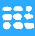 white blank speech bubbles thinking balloon set vector image vector image