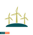 windmill flat icon vector image