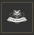 wolf head predator badge or emblem vector image
