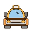 yellow bus vehicule land transport travel vector image