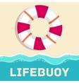 retro flat lifebuoy icon concept design vector image