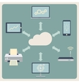Cloud computing technology Abstract background vector image