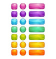 colorful glossy buttons set vector image