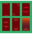 Set of christmas brochures six design card vector image