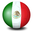 A soccer ball with the Mexican flag vector image vector image
