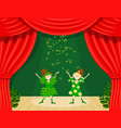abstract childrens theater little girls on the vector image vector image