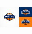 basketball logo american sports symbol and icon vector image vector image