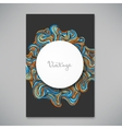 Beautiful card template vector image vector image