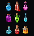 bottles with potion set vector image
