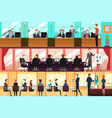 businesspeople in an office vector image vector image