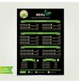 Cafe menu template design vector image vector image