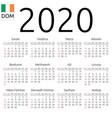 calendar 2020 irish sunday vector image vector image