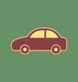 car sign cordovan icon and vector image