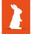 cartoon icon rabbit design isolated vector image vector image