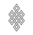 celtic knot grey pattern on white background vector image vector image