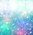 Christmas background Snow blured background vector image