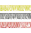 Color medium fringe trim borders set
