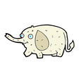 comic cartoon funny little elephant vector image vector image