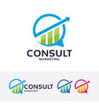 consult marketing logo design vector image vector image