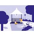 couple in park with kiosk isolated icon vector image