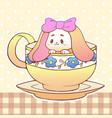 cute little funny kawaii animal pet vector image vector image