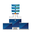 database server computer monitor laptop vector image vector image