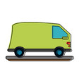 delivery van truck icon image vector image vector image