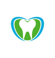 dental total care blue green symbol design vector image