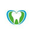dental total care blue green symbol design vector image vector image