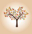 drawing of autumn tree vector image vector image