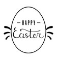 easter egg with lettering on white background vector image vector image