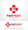 fast medic logo template design emblem design vector image vector image