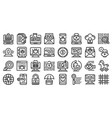 fraud icons set outline style vector image vector image