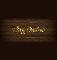 golden inscription merry christmas vector image vector image