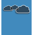 grey clouds vector image vector image