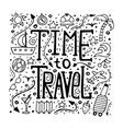 hand-written lettering time to travel vector image vector image