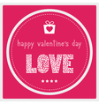Happy valentine s day card1 vector image vector image