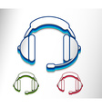 headset web icon vector image vector image