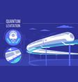 high speed futuristic quantum levitation train vector image vector image