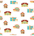 houses seamless repeat pattern vector image vector image