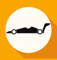 icon car on white circle with a long shadow vector image